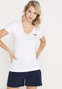 The North Face - SIMPLE DOME TEE - Basic T-shirt - white/black - 0