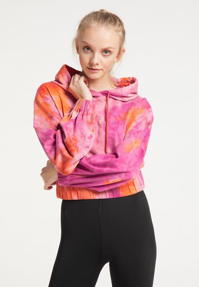 Sweater - orange mehrfarbig