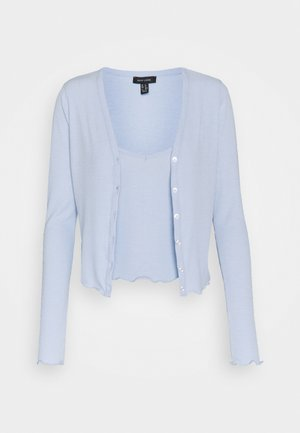 TWIN CARDI SET - Top - light blue