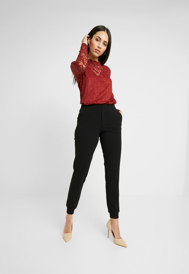 ONLADELE ROCKY PANTS - Spodnie materiałowe - black