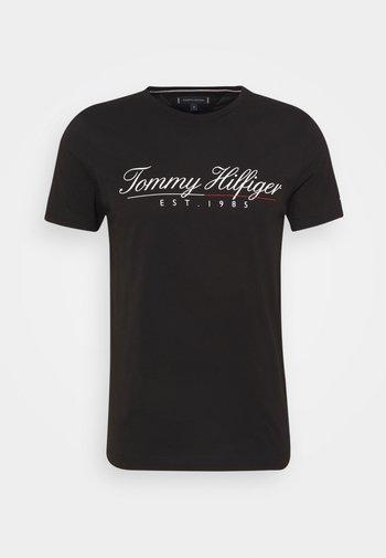 SCRIPT LOGO TEE UNISEX - T-shirt con stampa - black