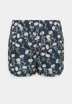 JJIBALI JJSWIMSHORTS FIELD FLOR - Swimming shorts - navy blazer