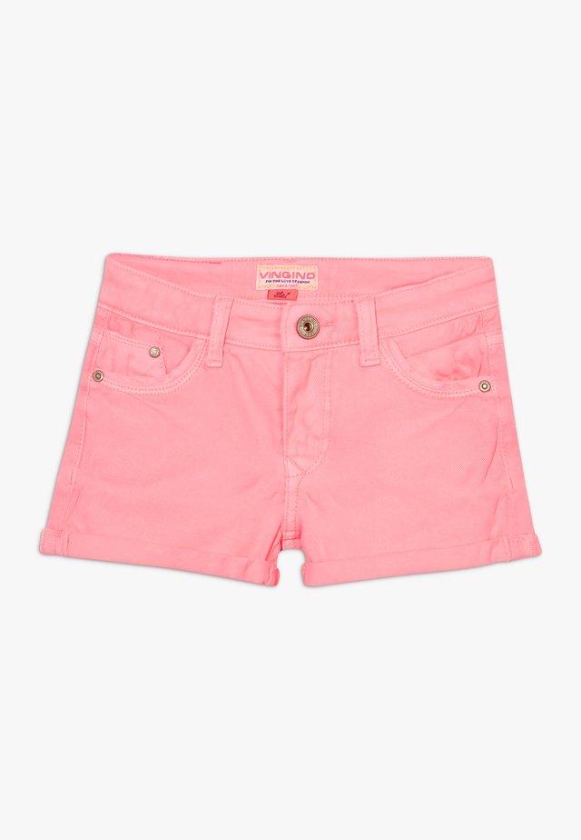 DELIA - Szorty jeansowe - neon pink