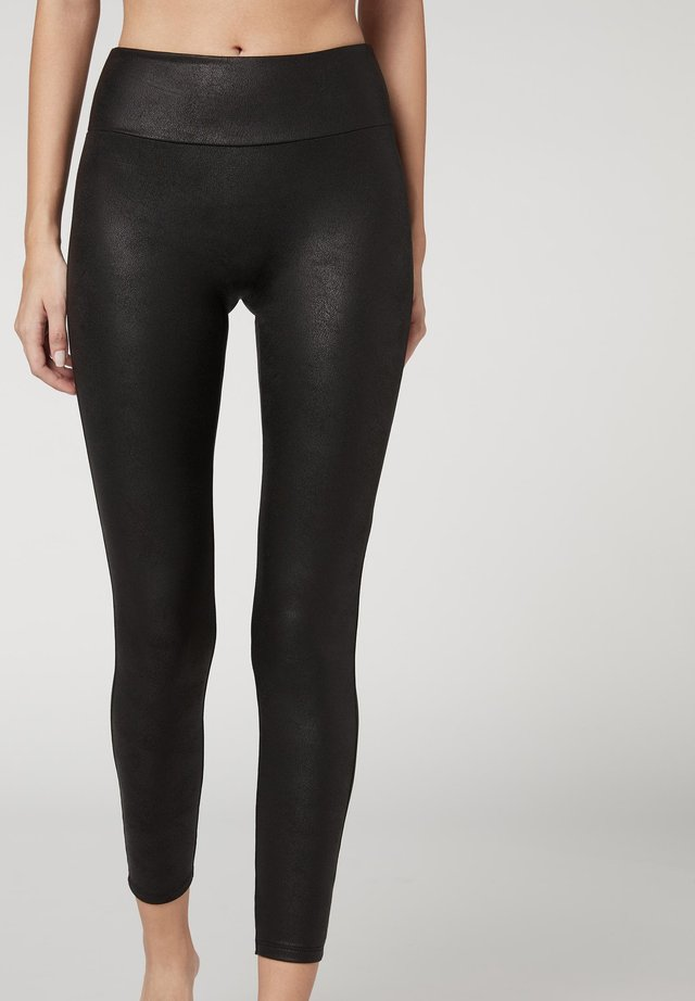 Leggings - Stockings - vintage black