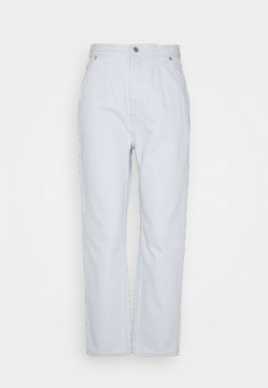 FOLD PLEAT TROUSERS - Jeans Relaxed Fit - bleached blue