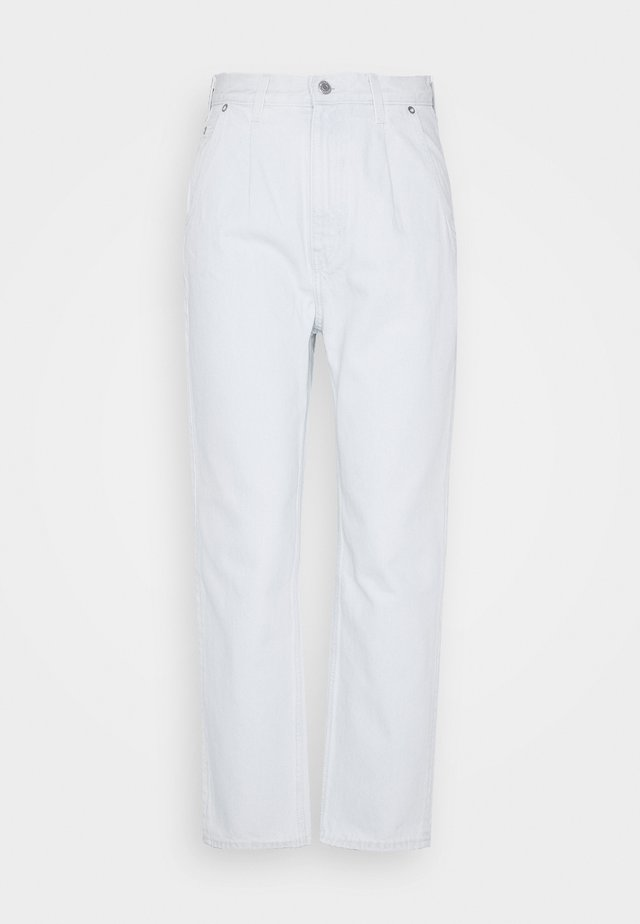 FOLD PLEAT TROUSERS - Džíny Relaxed Fit - bleached blue