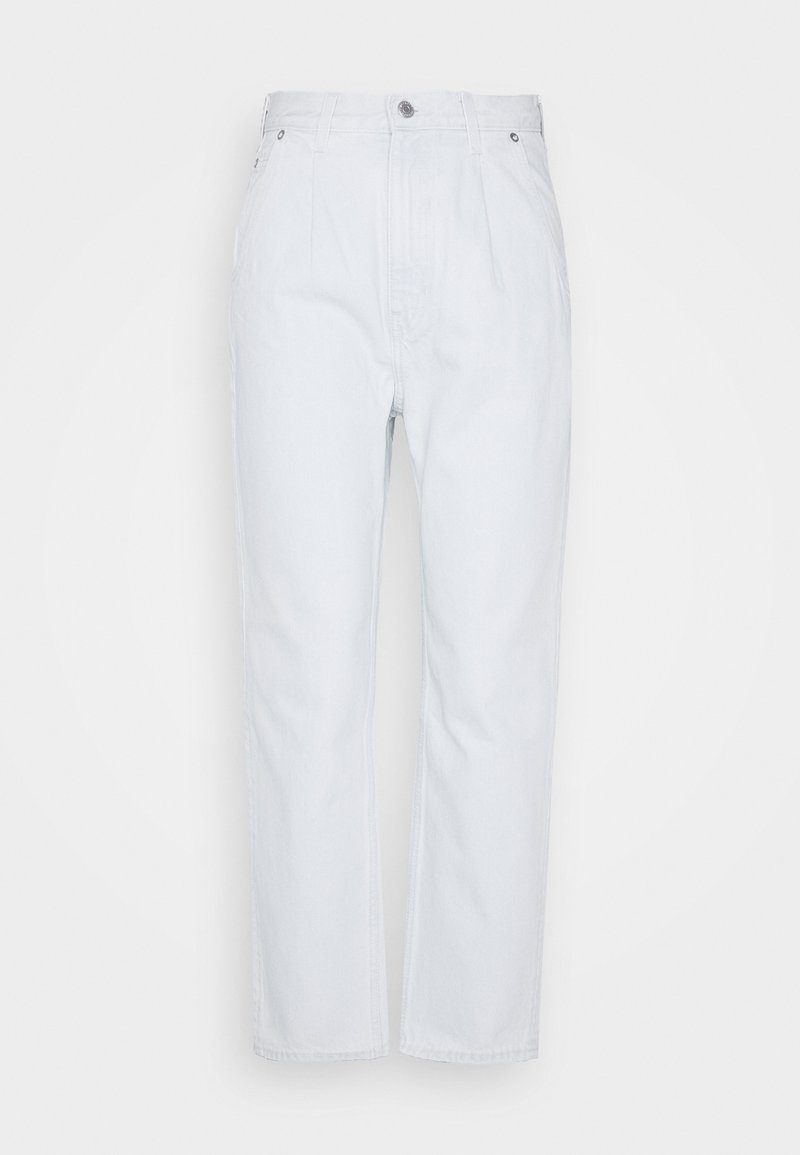 Weekday - FOLD PLEAT TROUSERS - Jean boyfriend - bleached blue