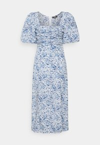 Missguided - PAISLEY PUFF SLEEVE DRESS - Day dress - blue - 0