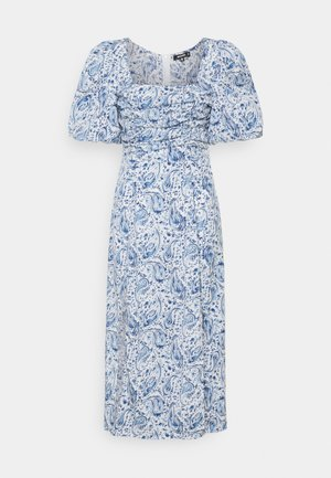 PAISLEY PUFF SLEEVE DRESS - Kjole - blue