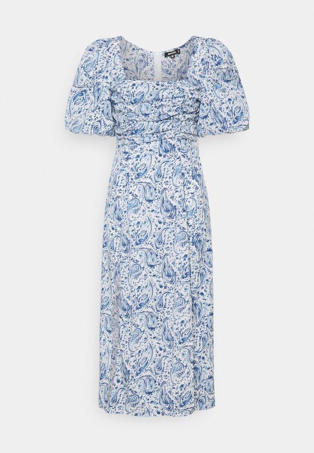PAISLEY PUFF SLEEVE DRESS - Korte jurk - blue