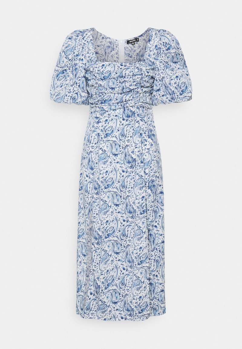 Missguided - PAISLEY PUFF SLEEVE DRESS - Day dress - blue