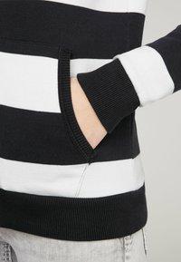Soccx - ARTWORK - Zip-up sweatshirt - ivory / deep sea - 4