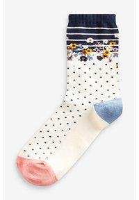 Next - FLORAL ANKLE SOCKS 5 PACK - Socks - blue - 5