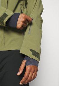 Salomon - OUTLAW - Hardshell jacket - martini olive/olive night/ebony - 5