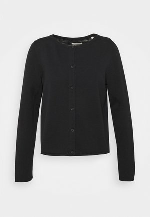 CARDIGAN LONGSLEEVE ASHAPE WITH STRUCTURE DETAILS AND BUTTON - Strikjakke /Cardigans - dark atlantic