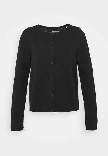 CARDIGAN LONGSLEEVE ASHAPE WITH STRUCTURE DETAILS AND BUTTON - Cardigan - dark atlantic
