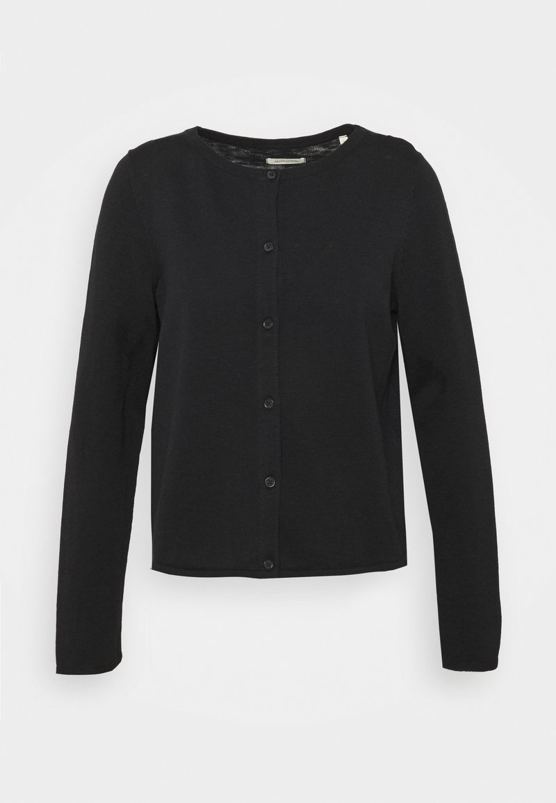 Marc O'Polo - CARDIGAN LONGSLEEVE ASHAPE WITH STRUCTURE DETAILS AND BUTTON - Cardigan - dark atlantic