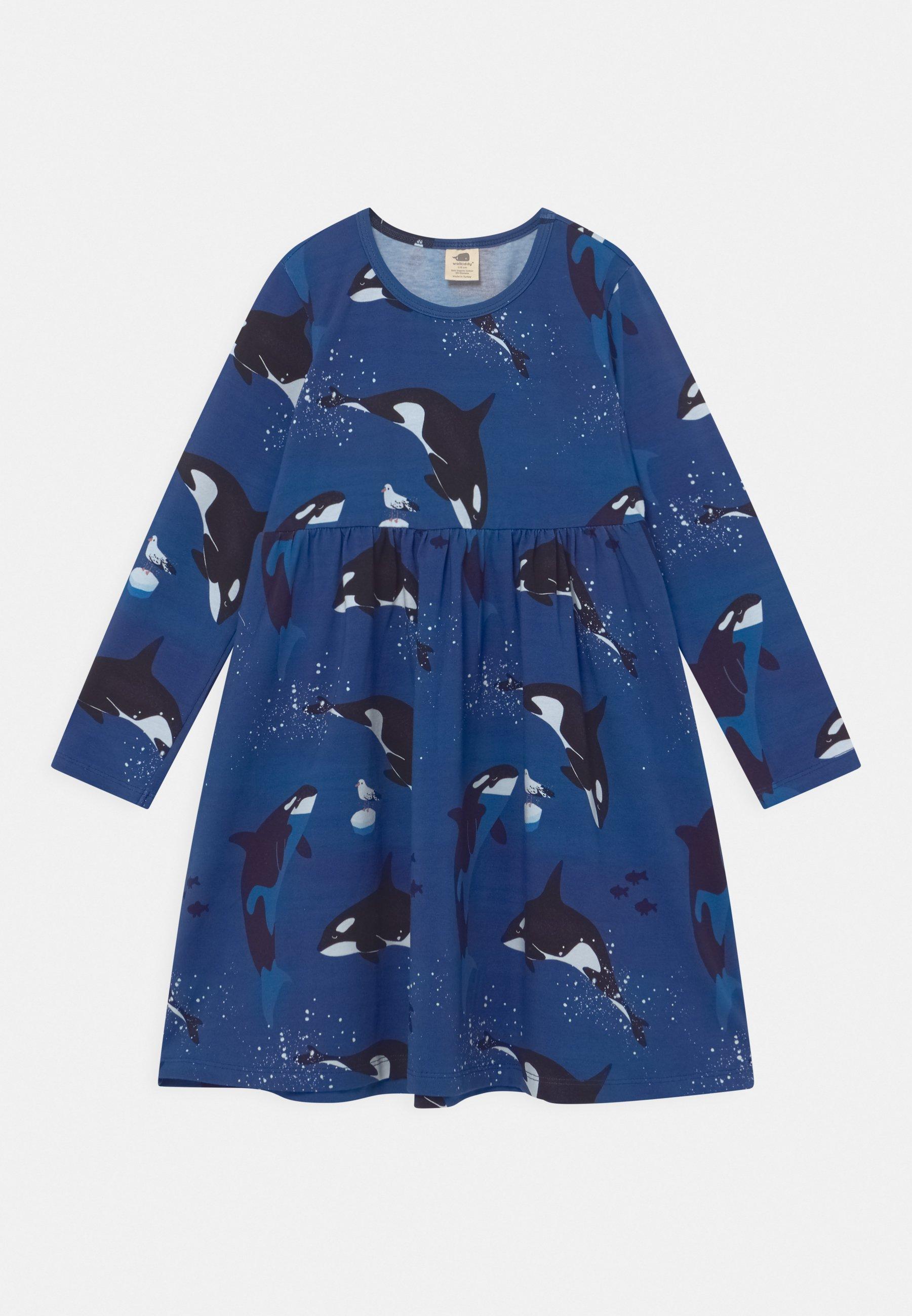 Bambini DRESS PLAYFUL ORCAS - Vestito di maglina