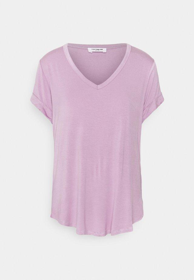 KARLY SHORT SLEEVE - T-shirt basic - soft mauve