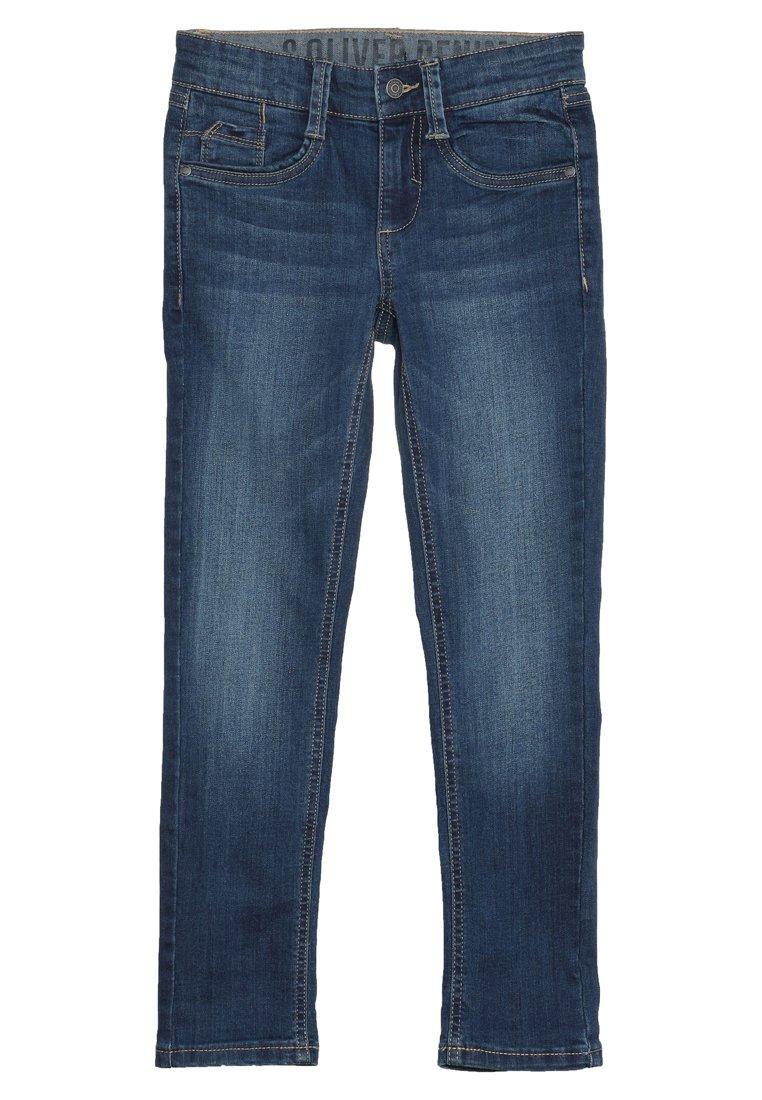 s.Oliver HOSE - Jeansy Skinny Fit - blue denim - Ubranka dla dzieci