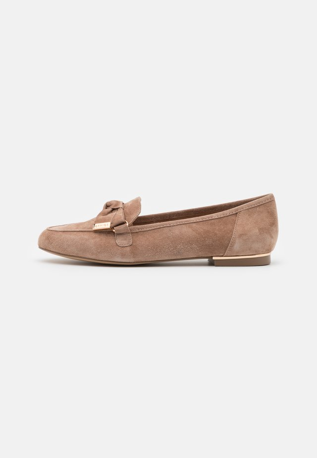 FILTERED BOW DETAIL  - Mocassins - taupe