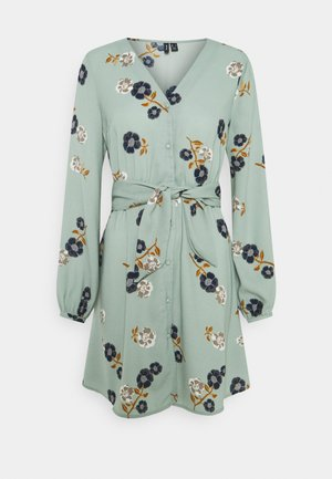 VMFALLIE TIE DRESS - Shirt dress - green milieu/newfallie
