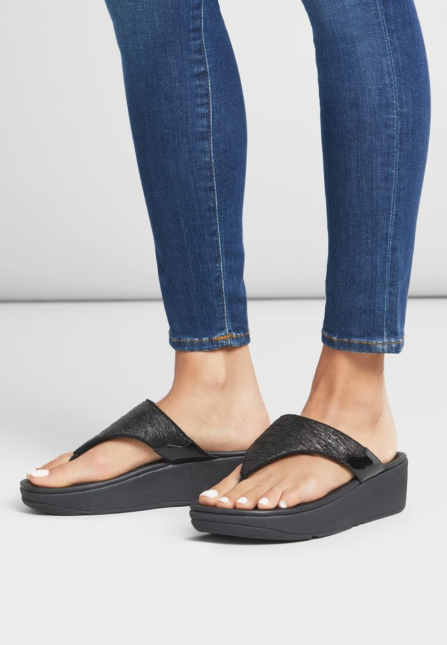 MYLA - T-bar sandals - all black