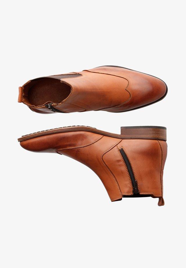 Korte laarzen - cognac