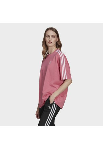 OVERSIZED ADICOLOR RELAXED - T-shirts print - rose tone