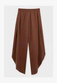 PULL&BEAR - FLIESSENDE MIT SCHLITZEN - Trousers - mottled light brown - 3