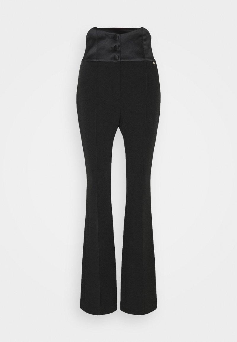 LIU JO - PANTALONE BOOTCUT - Spodnie materiałowe - nero