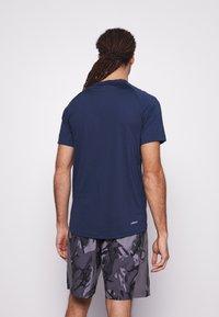 adidas Performance - Print T-shirt - crenav/white - 2