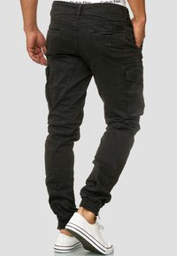 INDICODE JEANS - ALEX - Cargo trousers - black