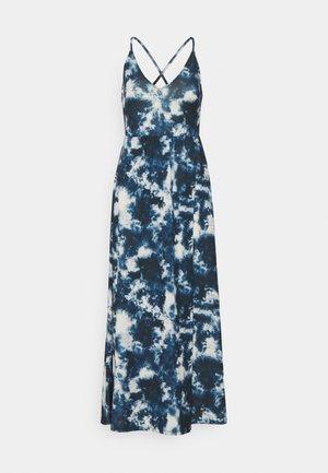 Maxi dress - blue/white