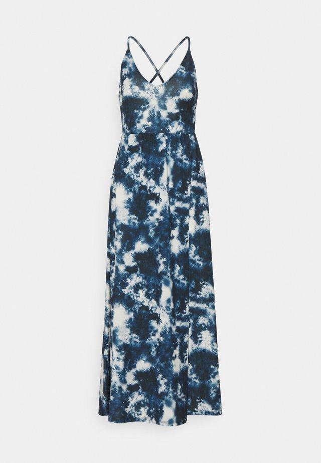 Robe longue - blue/white
