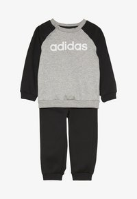 adidas Performance - ESSENTIALS LINEAR TRACKSUIT BABY SET - Træningssæt - medium grey heather/black/white - 3