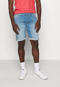 Jack & Jones - JJIRICK JJORIGINAL - Shorts vaqueros - blue denim - 0