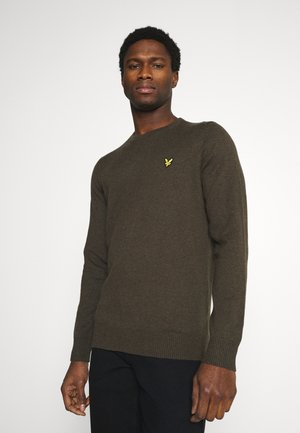CREW NECK JUMPER - Trui - trek green marl