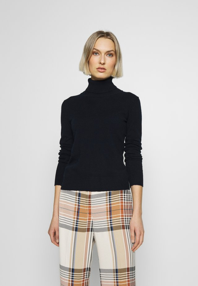 TURTLENECK - Strikkegenser - dark navy