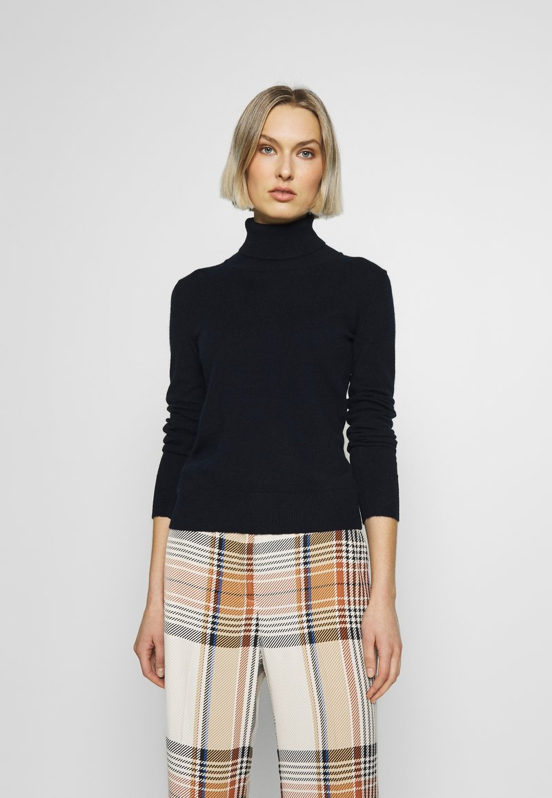 pure cashmere - TURTLENECK - Jumper - dark navy