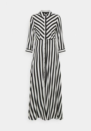 YASSAVANNA LONG DRESS - Maxikjole - black/ white stripes