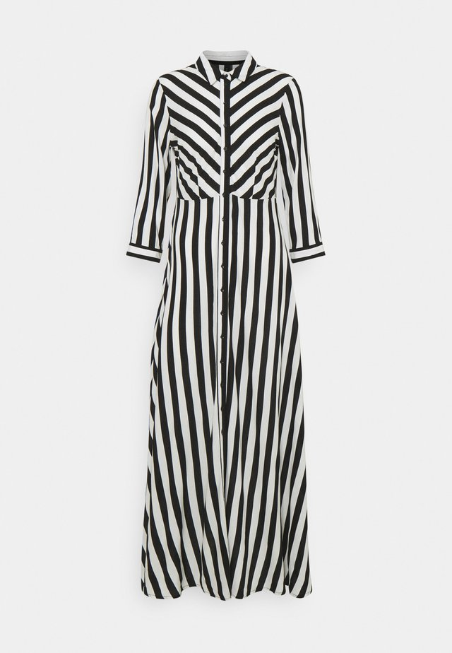 YASSAVANNA LONG DRESS - Vestido largo - black/ white stripes