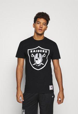 NFL LA RAIDERS  B JACKSON TEAM LOGO TEE - Klubové oblečení - black