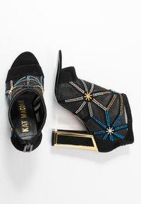 Kat Maconie - GILLI - Kotníková obuv na vysokém podpatku - black/multicolor - 3