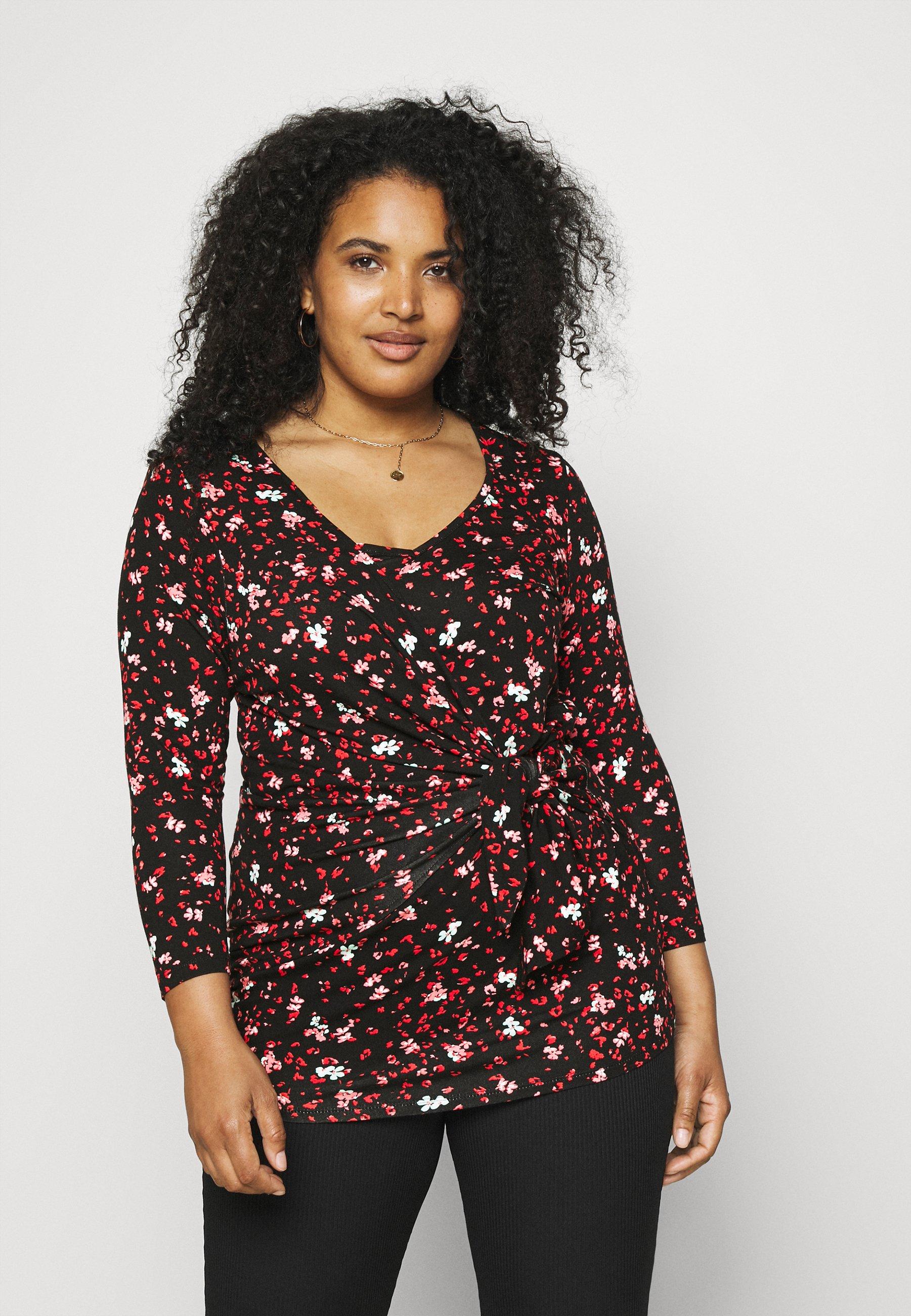 Femme DITSY PRINT WRAP  - T-shirt à manches longues