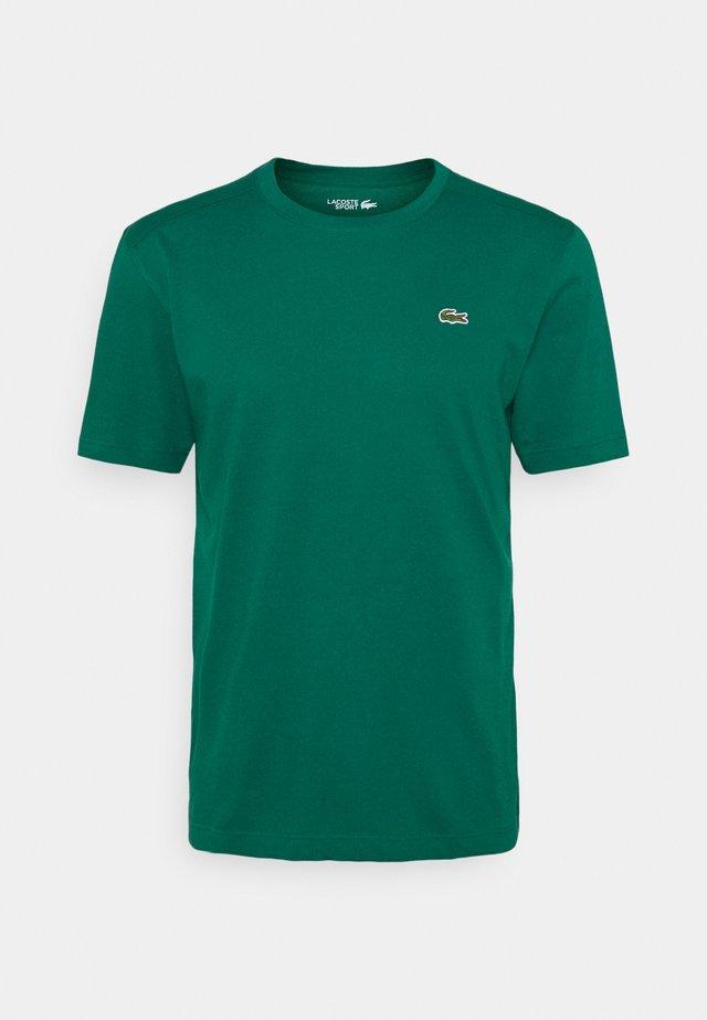 HERREN - T-shirts - bottle green