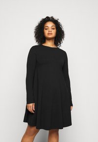 Even&Odd Curvy - Day dress - black - 0