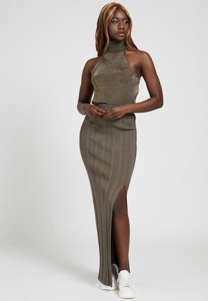 AMALIA - Maxi skirt - braun