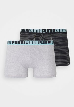 MEN SPACEDYE STRIPE BOXER 2 PACK - Shorty - light grey/black
