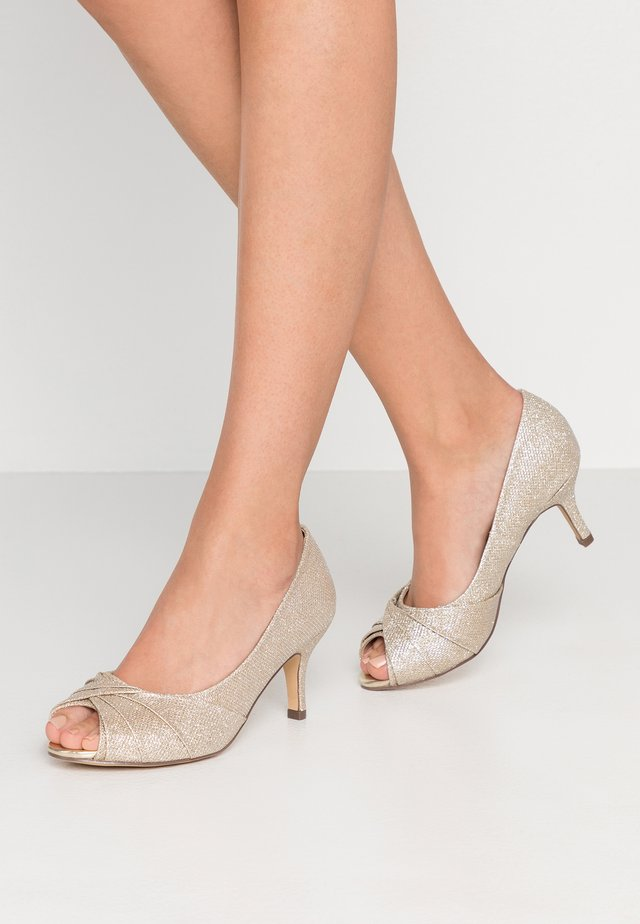 GABRIELLE WIDE FIT - Peep toes - champagne